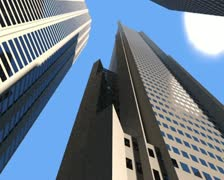 3d building road to roof speed Stock Footage