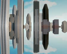 3d city traveling concept Stock Footage