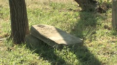 Fallen Stone at Antioch Colony Cemetery Stock Footage