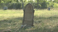 Grave Stone at Antioch Colony Cemetery Tx Stock Footage