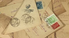 Old envelopes - stock footage