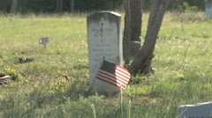 Tomb Stone in Cemetery Antioch colony Stock Footage