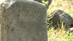 Too Old to read stone at Cemetery Antioch Colony Cemetery Stock Footage