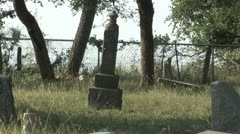 Monument at Antioch Colony Cemetery Stock Footage