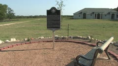 Historical Marker at Cemetery Antioch Colony Stock Footage
