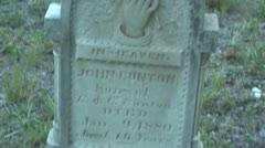 Cemetery Antioch Colony John Bunton Grave Stone Stock Footage