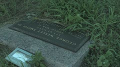 Antioch Colony Cemetery Grave Stone Stock Footage