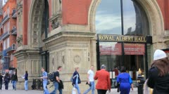 Royal Albert Hall in London, UK Stock Footage