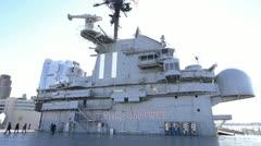 USS Intrepid Island Stock Footage