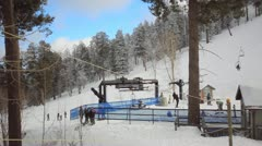 30p HD The southern most ski area in the US Mt. Lemmon, AZ -6 Stock Footage