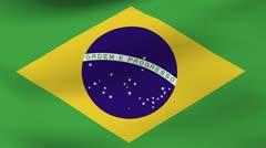 Flag Brasil - stock footage