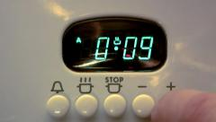 The electronic timer of a cooker Stock Footage