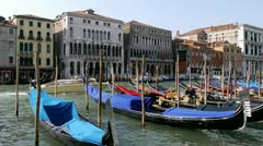 Gondolas on the Grand Canal, Venice, Italy - stock footage