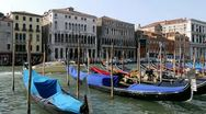 Gondolas on the Grand Canal, Venice, Italy Stock Footage