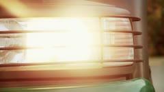 Headlamp - stock footage