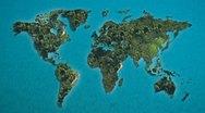 World map islands SALE! Stock Footage