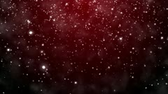 Christmas background with snowflakes - falling snow Stock Footage