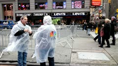 NBC crew in downtown New York City Stock Footage