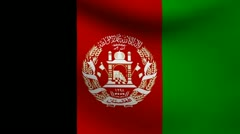 Afghanistan flag. Stock Footage