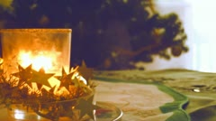 Christmas candle - stock footage
