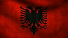 Albania flag. Stock Footage