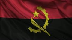 Angola flag. Stock Footage