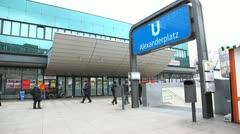 Berlin - Alexanderplatz - stock footage