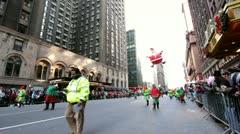 Santa balloon in Macy's parade Stock Footage