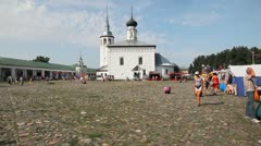 Central plaza of Suzdal city Stock Footage
