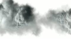 Smoke explosion  on white Stock Footage