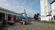 Stock Video Footage of Central plaza of Suzdal city