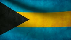 Bahamas flag. Stock Footage
