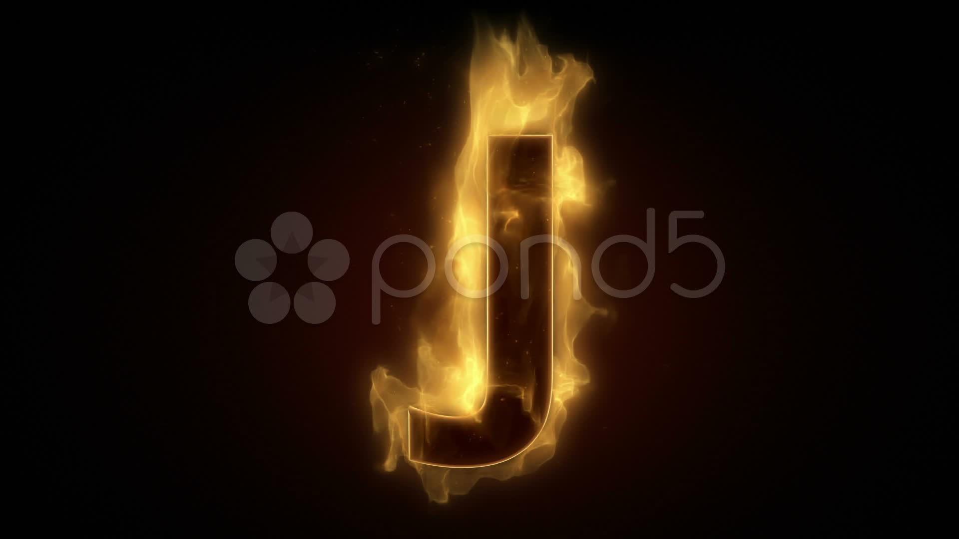 Hd Wallpaper Letter N: Burning Letter Wallpaper