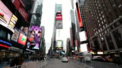 Times Square in New York City - stock footage