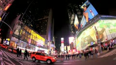 New york city, traffic in times square Stock Footage