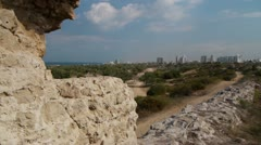 Ashkelon antiquities Canaan wall P2 Stock Footage