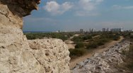 Stock Video Footage of Ashkelon antiquities Canaan wall P2
