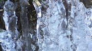 Water and ice in winter Stock Footage
