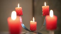 Five Candles Stock Footage