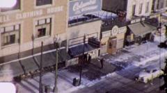 Minneapolis City Street Scene Snowy Winter 1940s Vintage Home Movie 1941 Stock Footage