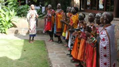 Masai Women's Christmas Chorus 7 - stock footage