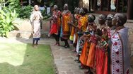 Stock Video Footage of Masai Women's Christmas Chorus 7