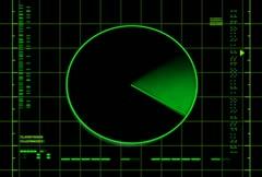 Radar Screen (loop) - stock footage