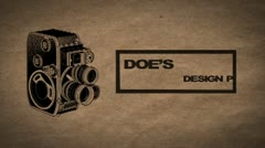 Vintage Camera Themed Portfolio Stock After Effects