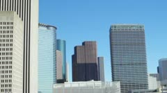 Driving past downtown Houston Stock Footage