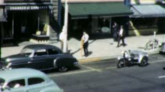 Small Town Traffic Cop Ticket MAIN STREET USA 1940s Vintage Film Home Movie 1951 Stock Footage