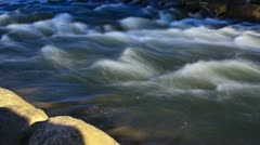 Fast flowing river rapids Stock Footage