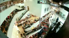 Timelapse Shopping Mall Stock Footage