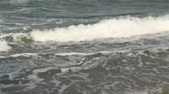Waves on a beach Stock Footage