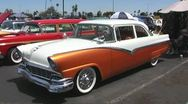 1950's Muscle Car Sedan at Ford Car Show Stock Footage
